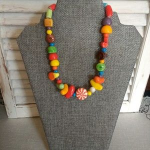 Vintage Collectible Ceramic Candy Necklace